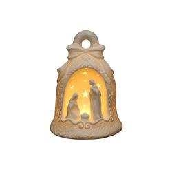 SIGRO Windlicht Porzellan Windlicht Heilige Familie in Glocke