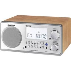 Sangean WR-2 Tischradio UKW, MW AUX Walnuss, Silber