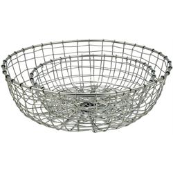 Dekokorb 2er Set - Metall Silber Dekoschale Korbschale Dekokörbe Drahtkorb Bowl 26 cm & 34 cm