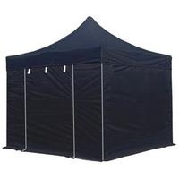 TOOLPORT Faltpavillon 3 x 3 m inkl. Seitenteile schwarz (578885)