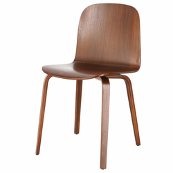 Krzesło drewniane Isoltly brązowe