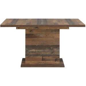 Säulentisch Cedric 16 Vintage braun 160(200)x90x77 cm Esstisch Speisetisch Tisch