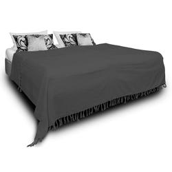 Tagesdecke Luna, One Home, auch als Sofaüberwurf einsetzbar grau 180 cm x 220 cm