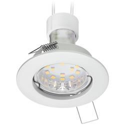 Decken-Einbaustrahler FERE Einbaurahmen weiß matt GU10 LED Lampe 200lm 110° weiß