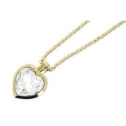 NEUMANN Herzkette Herzkette Titania mit SWAROVSKI Kristall (mit Geschenktüte, Geschenke für Frauen) goldfarben