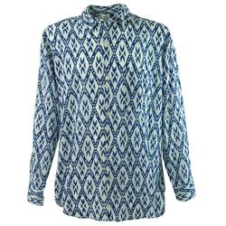 Guru-Shop Hemd & Shirt Goa Hippie Hemd, Herrenhemd - blau S
