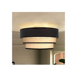 ZMH Deckenleuchte Rund Deckenlampe Ø40cm E27 aus Moderner Stoff-Lampenschirm für Schlafzimmer Esszimmer