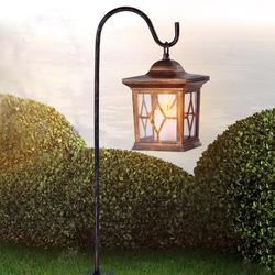 Kupferfarbene LED Solar-Laterne 68cm mit Erdspieß