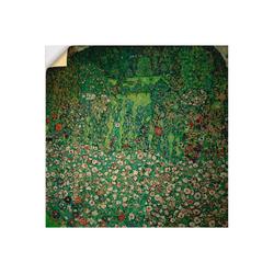 Artland Wandbild Gartenlandschaft mit Bergkuppe (Gartenlandschaft), Garten (1 Stück) 50 cm x 50 cm