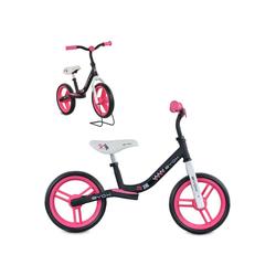 Byox Laufrad Laufrad Zig-Zag 10 Zoll (25,40 cm) Zoll, EVA-Reifen, Sattel einstellbar von 36 - 45 cm ab 12 Monate rosa