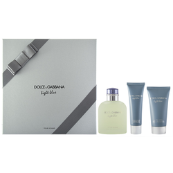 Dolce & Gabbana Light Blue Pour Homme EDT Geschenkset EDT 125 ml + 75 ml Aftershave Balm + 50 ml Shower Gel