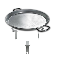 PAN BBQ Set - für Smokin Pizzaring: 60 / 67cm - die XXL Pfanne füre Paelle, Reibekuchen und vieles mehr
