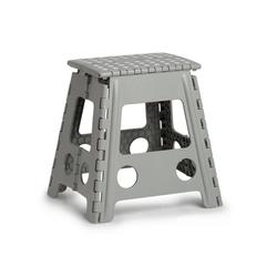 Zeller Present Klappstuhl, Kunststoff, klappbar, Sitzhöhe 39 cm grau