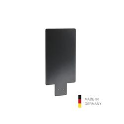 König & Meyer 80390 Hinweistafel für Spenderstative, schwarz, DIN-A4 (210 x 297 mm)
