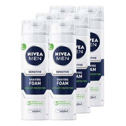 Nivea men Rasierschaum sensitiv 200 ml, 6er Pack
