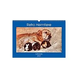 Retro Heimtiere (Wandkalender 2021 DIN A3 quer)