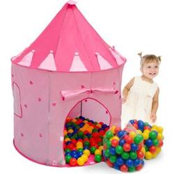 Spielset Kinderspielzelt Shanti inkl. 200 Bällebadbällen   Spielzelt Spielhaus für Mädchen   Kinder-Bällebad-Zelt mit Spielbällen   inkl. Tragetasche