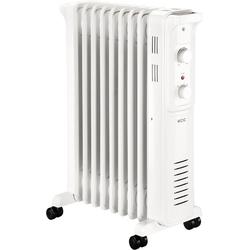 ECG Ölradiator OR 2090, 2000 W, Ölradiator mit 9 Rippen, 3 Leistungsstufen 750 / 1500 / 2000 W, Äußerst leise