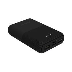 Terratec P100 Pocket Powerbank 10000 mAh, 10.000mAh, Mobiles Ladegerät, Powerbank 2x USB / USB-C, Notebook Smartphone, schwarz (282263) schwarz