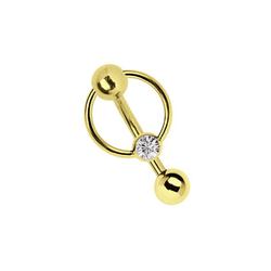 Adelia´s Intimpiercing Intimpiercing in Gold Klitoris Banane, Intimpiercing oder Bauchnabelpiercing Banane aus 316l Stahl