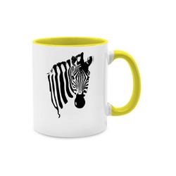 Shirtracer Tasse Zebra - Wildnis - Tasse zweifarbig - Tassen, tasse zebra
