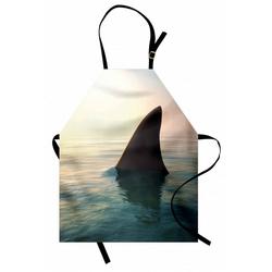 Abakuhaus Kochschürze Höhenverstellbar Klare Farben ohne verblassen, Angeln Theme Haifischflosse über Ozean