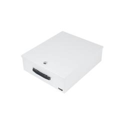 HMF Geldkassette Dokumentenkassette, abschließbar, DIN A4 / B4 Ordner, 39,5 x 32,5 x 12