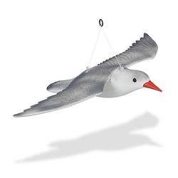 relaxdays Vogelschreck Möwe fliegend grau 59,0 x 41,0 x 22,0 cm