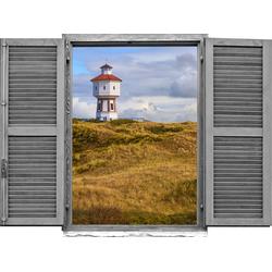 Wandtattoo »Leuchtturm« (1 Stück), Wandtattoos, 82239119-0 beige 80x0,1x60 cm beige