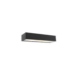Design längliche Wandleuchte schwarz 35 cm - Houx