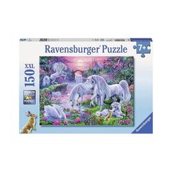 Ravensburger Puzzle Puzzle, 150 Teile XXL, 49x36 cm, Einhörner im, Puzzleteile
