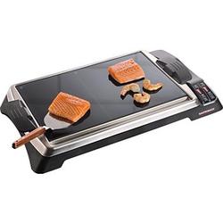 Gastroback Tischgrill Teppanyaki Glas-Grill Advanced, 1280 Watt, Tischgrill, 357082-0 schwarz schwarz
