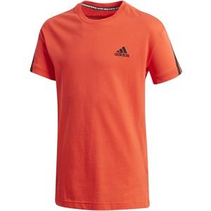 adidas Jungen T-Shirt 3-Streifen T-Shirt, Hirere/Black, 134, GK3194