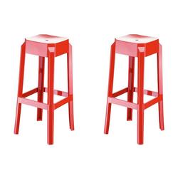 CLP Barhocker Fox (Set, 2er), aus hochwertigem Kunststoff rot