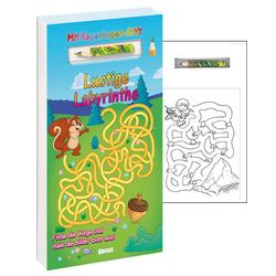 Lustige Labyrinthe mit Stift: Buch von
