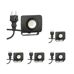 LED Wand-Strahler Wega, Outdoor, schwarz, 10W, 800lm, weiß, 5 Stk.