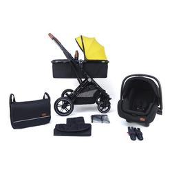 Pixini Kombi-Kinderwagen Pixini Lania Kinderwagen 3in1 Set gelb