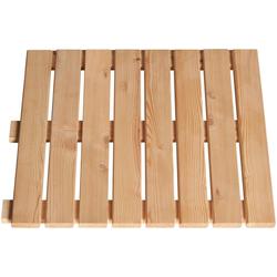 BM Massivholz Holzfliesen, Set, 40 St., Lärche, 50x50 cm, 10 m²