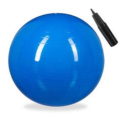 relaxdays   Gymnastikball blau 75,0 cm