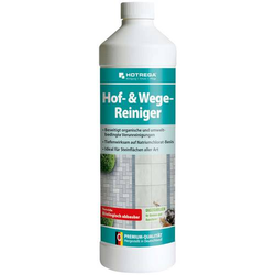 HOTREGA Hof- & Wege-Reiniger Konzentrat 1 L, Steinreiniger, Terrassenreiniger