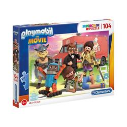 Clementoni® Puzzle Puzzle 104 Teile Supercolor Playmobil the Movie, Puzzleteile