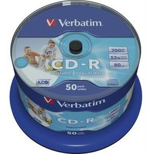 Verbatim CD Rohlinge bedruckbar 50er Spindel