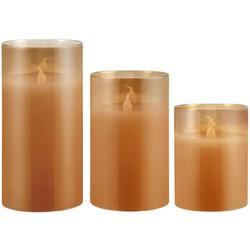 Pauleen LED-Kerze Classy Golden (Set, 3-tlg), Wachskerze Gold, Timer