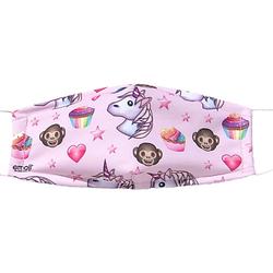 Mund-Nasen-Maske Emojis, rosa, 2er Pack