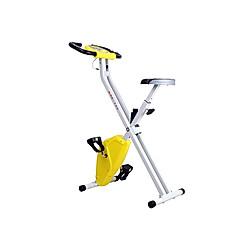 Fitnessfahrrad mit LCD-Monitor (Farbe: gelb)