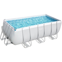 BESTWAY Power Steel Frame Pool Set 412 x 201 x 122 cm inkl. Sandfilter