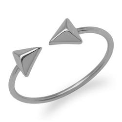 Silberner Ring Pyramiden 925er Silber
