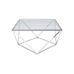 KARE Couchtisch Couchtisch Cristallo 80x80cm
