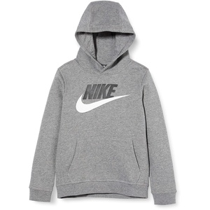 Nike Jungen Sportswear Club Fleece Pullover Hoodie, Carbon Heather, XS