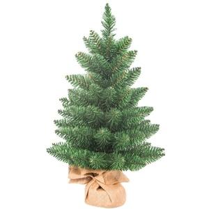 Weihnachtsbaum künstlich,Mini Weihnachts Deko,Mini Weihnachts Baum,60cm Künstlicher Weihnachtsbaum mit Leinensockel Perfekt für Fenster Familientreffen Garten